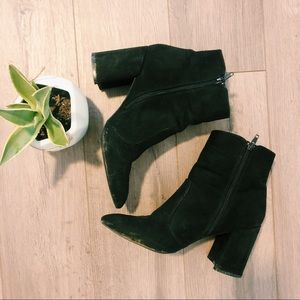 Charlotte Russe Black Booties Size 8